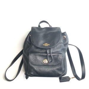 Coach Billie Mini Pebbled Leather Backpack